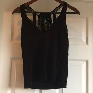 Free people black halter top, size small